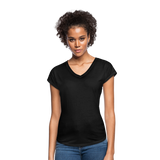 Customizable Women's Tri-Blend V-Neck T-Shirt add your own photos, images, designs, quotes, texts and more - black