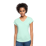 Customizable Women's Tri-Blend V-Neck T-Shirt add your own photos, images, designs, quotes, texts and more - mint