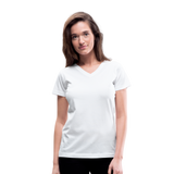 Customizable Women's V-Neck T-Shirt add your own photos, images, designs, quotes, texts and more - white