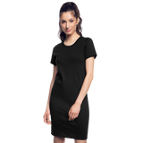 Customizable Women's T-Shirt Dress add your own photos, images, designs, quotes, texts and more - black
