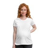 Customizable Women's Maternity T-Shirt add your own photos, images, designs, quotes, texts and more - white