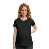 Customizable Women's Maternity T-Shirt add your own photos, images, designs, quotes, texts and more - black