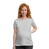 Customizable Women's Maternity T-Shirt add your own photos, images, designs, quotes, texts and more - heather gray