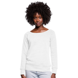 Customizable Women's Wideneck Sweatshirt add your own photos, images, designs, quotes, texts and more - white
