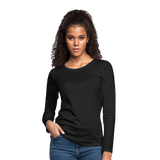Customizable Women's Premium Long Sleeve T-Shirt add your own photos, images, designs, quotes, texts and more - black