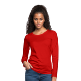 Customizable Women's Premium Long Sleeve T-Shirt add your own photos, images, designs, quotes, texts and more - red