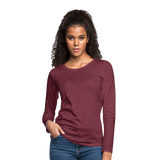 Customizable Women's Premium Long Sleeve T-Shirt add your own photos, images, designs, quotes, texts and more - heather burgundy
