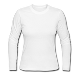 Customizable Women's Long Sleeve Jersey T-Shirt add your own photos, images, designs, quotes, texts and more - white