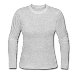 Customizable Women's Long Sleeve Jersey T-Shirt add your own photos, images, designs, quotes, texts and more - gray