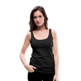 Customizable Women's Premium Tank Top add your own photos, images, designs, quotes, texts and more - black