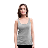 Customizable Women's Premium Tank Top add your own photos, images, designs, quotes, texts and more - heather gray