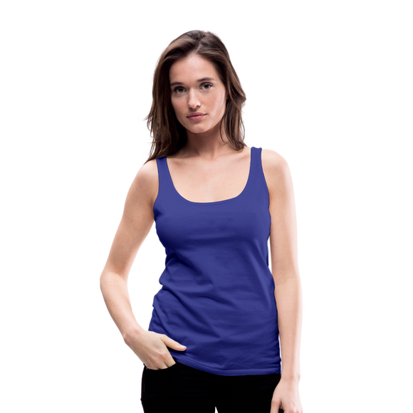 Customizable Women's Premium Tank Top add your own photos, images, designs, quotes, texts and more - royal blue