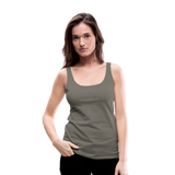 Customizable Women's Premium Tank Top add your own photos, images, designs, quotes, texts and more - asphalt gray