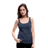 Customizable Women's Premium Tank Top add your own photos, images, designs, quotes, texts and more - navy