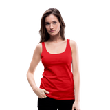 Customizable Women's Premium Tank Top add your own photos, images, designs, quotes, texts and more - red