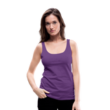 Customizable Women's Premium Tank Top add your own photos, images, designs, quotes, texts and more - purple