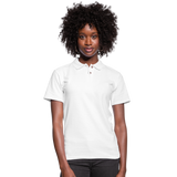 Customizable Women's Pique Polo Shirt add your own photos, images, designs, quotes, texts and more - white