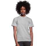 Customizable Women's Pique Polo Shirt add your own photos, images, designs, quotes, texts and more - heather gray