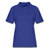 Customizable Women's Pique Polo Shirt add your own photos, images, designs, quotes, texts and more - royal blue