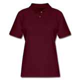 Customizable Women's Pique Polo Shirt add your own photos, images, designs, quotes, texts and more - burgundy