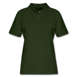 Customizable Women's Pique Polo Shirt add your own photos, images, designs, quotes, texts and more - forest green