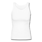 Customizable Women's Longer Length Fitted Tank add your own photos, images, designs, quotes, texts and more - white