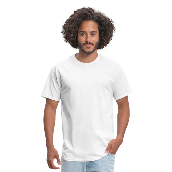 Customizable Unisex Classic T-Shirt add your own photos, images, designs, quotes, texts and more - white