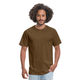 Customizable Unisex Classic T-Shirt add your own photos, images, designs, quotes, texts and more - brown