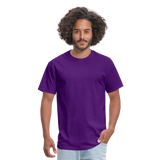Customizable Unisex Classic T-Shirt add your own photos, images, designs, quotes, texts and more - purple