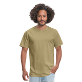 Customizable Unisex Classic T-Shirt add your own photos, images, designs, quotes, texts and more - khaki
