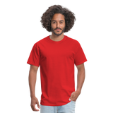 Customizable Unisex Classic T-Shirt add your own photos, images, designs, quotes, texts and more - red