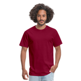Customizable Unisex Classic T-Shirt add your own photos, images, designs, quotes, texts and more - burgundy