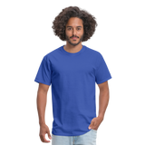 Customizable Unisex Classic T-Shirt add your own photos, images, designs, quotes, texts and more - royal blue