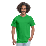 Customizable Unisex Classic T-Shirt add your own photos, images, designs, quotes, texts and more - bright green