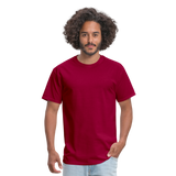Customizable Unisex Classic T-Shirt add your own photos, images, designs, quotes, texts and more - dark red