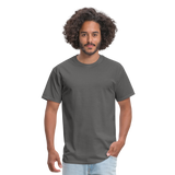 Customizable Unisex Classic T-Shirt add your own photos, images, designs, quotes, texts and more - charcoal