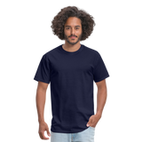 Customizable Unisex Classic T-Shirt add your own photos, images, designs, quotes, texts and more - navy