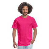 Customizable Unisex Classic T-Shirt add your own photos, images, designs, quotes, texts and more - fuchsia
