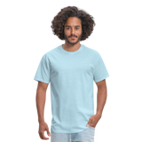 Customizable Unisex Classic T-Shirt add your own photos, images, designs, quotes, texts and more - powder blue