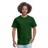 Customizable Unisex Classic T-Shirt add your own photos, images, designs, quotes, texts and more - forest green