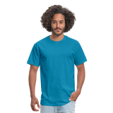 Customizable Unisex Classic T-Shirt add your own photos, images, designs, quotes, texts and more - turquoise