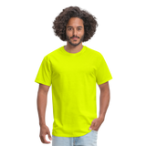 Customizable Unisex Classic T-Shirt add your own photos, images, designs, quotes, texts and more - safety green