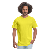 Customizable Unisex Classic T-Shirt add your own photos, images, designs, quotes, texts and more - yellow
