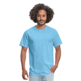 Customizable Unisex Classic T-Shirt add your own photos, images, designs, quotes, texts and more - aquatic blue