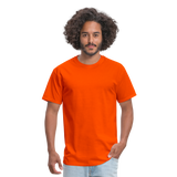 Customizable Unisex Classic T-Shirt add your own photos, images, designs, quotes, texts and more - orange
