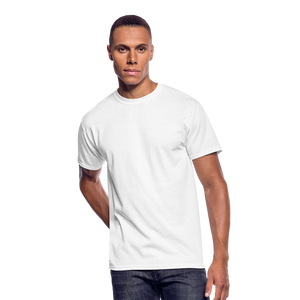 Customizable Men's 50/50 T-Shirt add your own photos, images, designs, quotes, texts and more - white