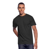 Customizable Men's 50/50 T-Shirt add your own photos, images, designs, quotes, texts and more - black