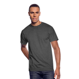 Customizable Men's 50/50 T-Shirt add your own photos, images, designs, quotes, texts and more - heather black