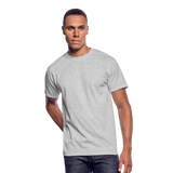 Customizable Men's 50/50 T-Shirt add your own photos, images, designs, quotes, texts and more - heather gray