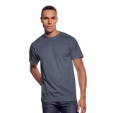 Customizable Men's 50/50 T-Shirt add your own photos, images, designs, quotes, texts and more - navy heather
